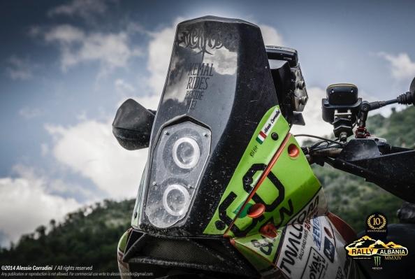 KTM 990 950 rallye carbon screen xenon