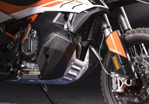 KTM 790 carbon tank protection