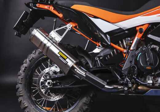 KTM 790 rally exhaust